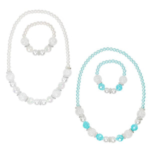 Snow Princess Necklace & Bracelet Set