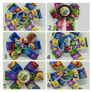 3.5 Inch Pinwheel Bow - Inside Out