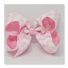 4 Inch Boutique Bow - White Oil Chevron