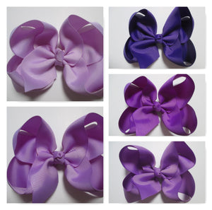 4 Inch Boutique Bow - Purples