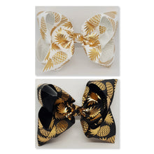 8 Inch Boutique Bow - Pineapple