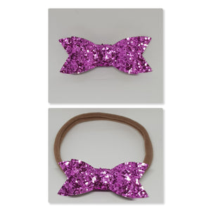 2.75 Inch Ivy Chunky Glitter Bow - Plum