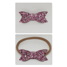 2.75 Inch Ivy Chunky Glitter Bow - Raspberry Ripple