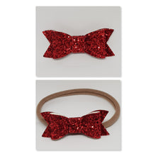 2.75 Inch Ivy Chunky Glitter Bow - Ruby Red