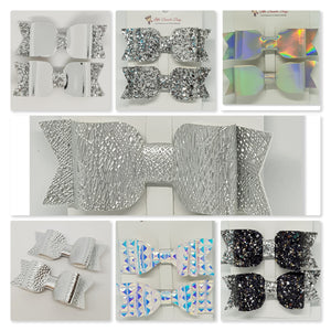 3.25 Inch Sophie Bow Set of 2 - Silver