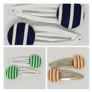 5 cm Button Snap Clips - Stripes