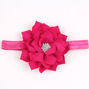 Flower Headband - Large Lotus Flowers with Starburst Centre