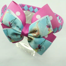 1/2 Woven Headband with Double Bow - Tinkerbell