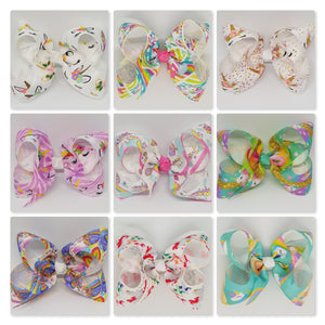 4 Inch Boutique Bow - Unicorns