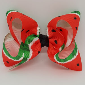 4 Inch Boutique Bow - Watermelon