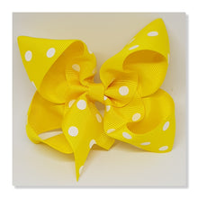 4 Inch Boutique Bow - White Oil Spots