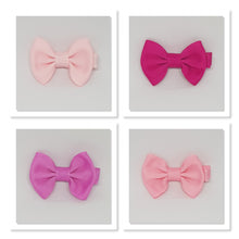2 Inch Tuxedo Hair Bows - Pinks
