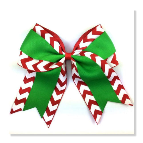 7.5 Inch Cheer Bow - Christmas Candy Cane