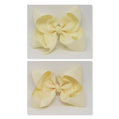 4 Inch Boutique Bow - Creams