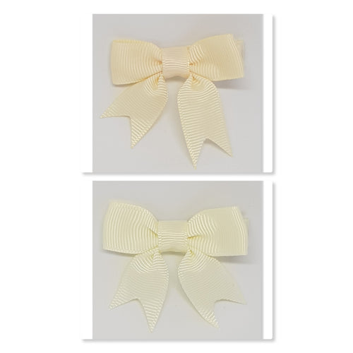 2 Inch Hair Bows with Tails - Creams