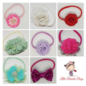 Flower Headband - Large Embellishments on Nylon