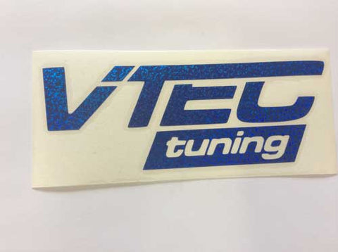 VTec Tuning Sticker Blue