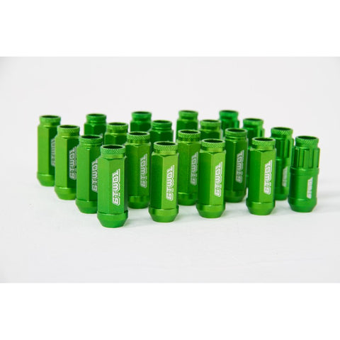 6TWO1 7075-T6 Aluminium Lug Nuts Green