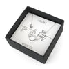 Tie the Knot Necklace & Earrings - Bridesmaid Proposal Box Set