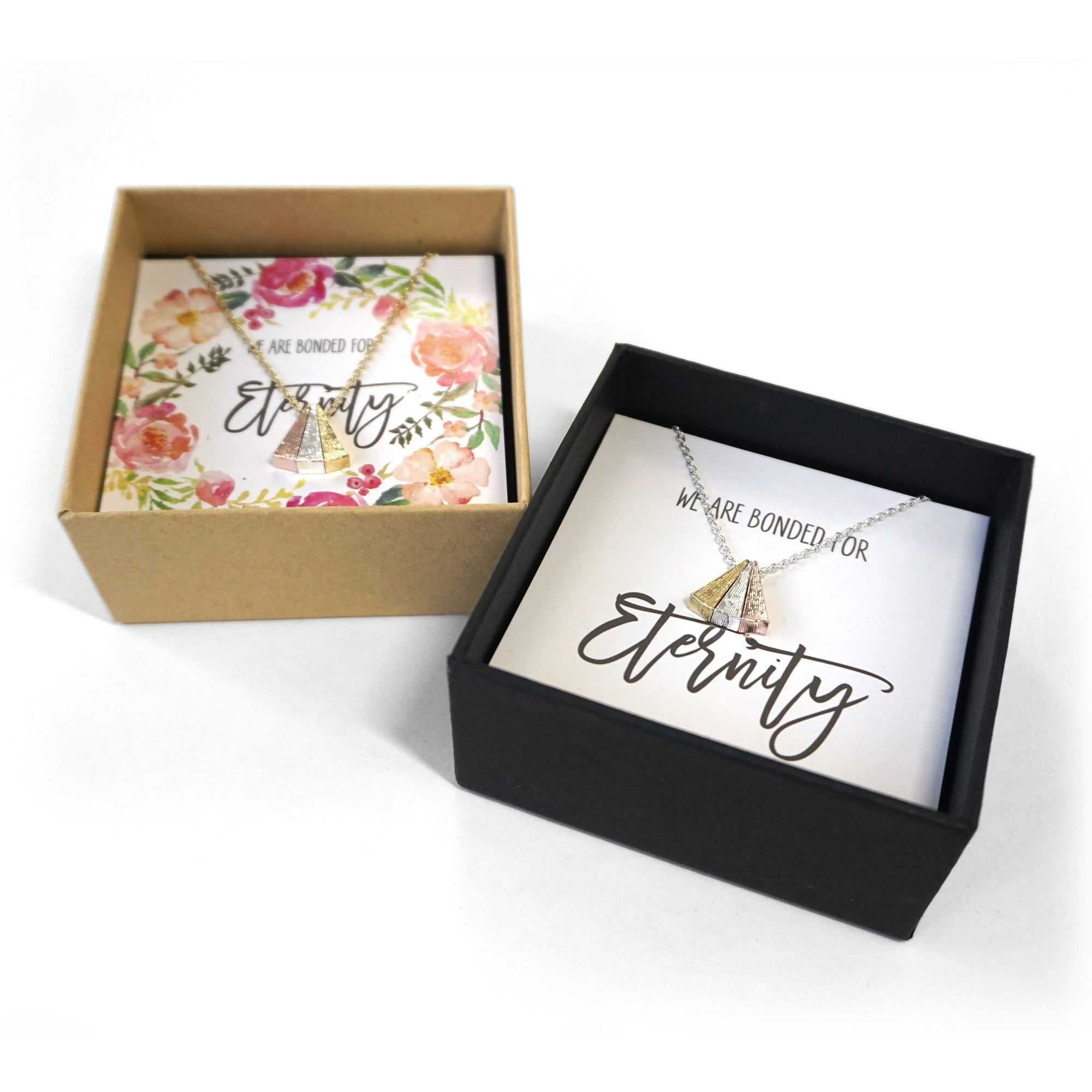 Side By Side Necklace Wedding Gift Box Set