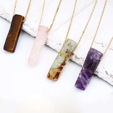 Natural Stone Quartz Choker Necklace