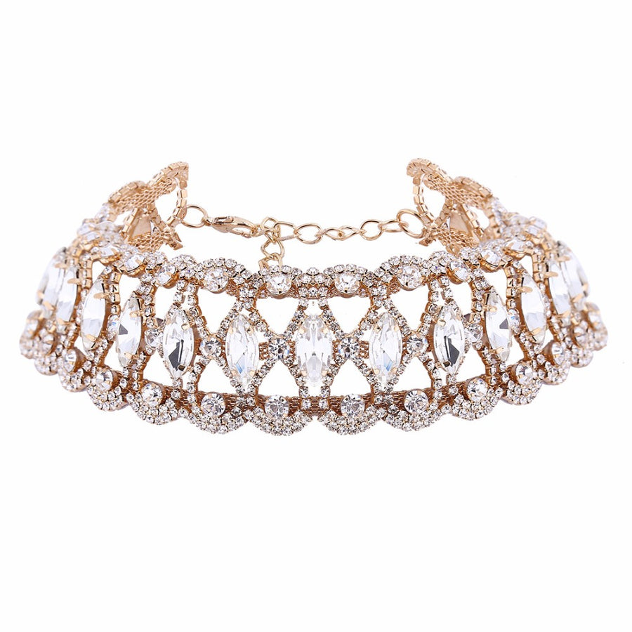 Vintage Crystal Choker Necklace