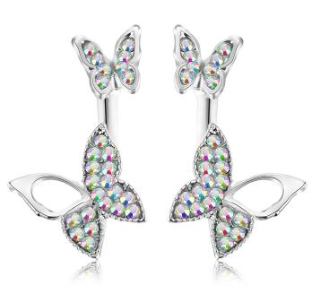 Butterfly Rhinestone Stud Earrings