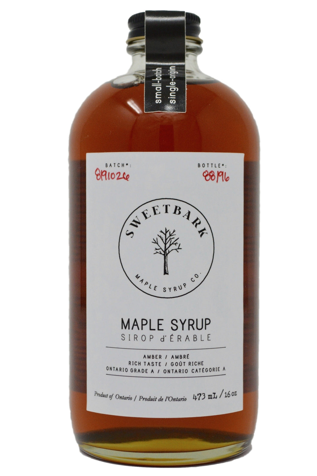 Sweetbark Maple Syrup - Amber 16oz - Sweetbark Maple Syrup Co.