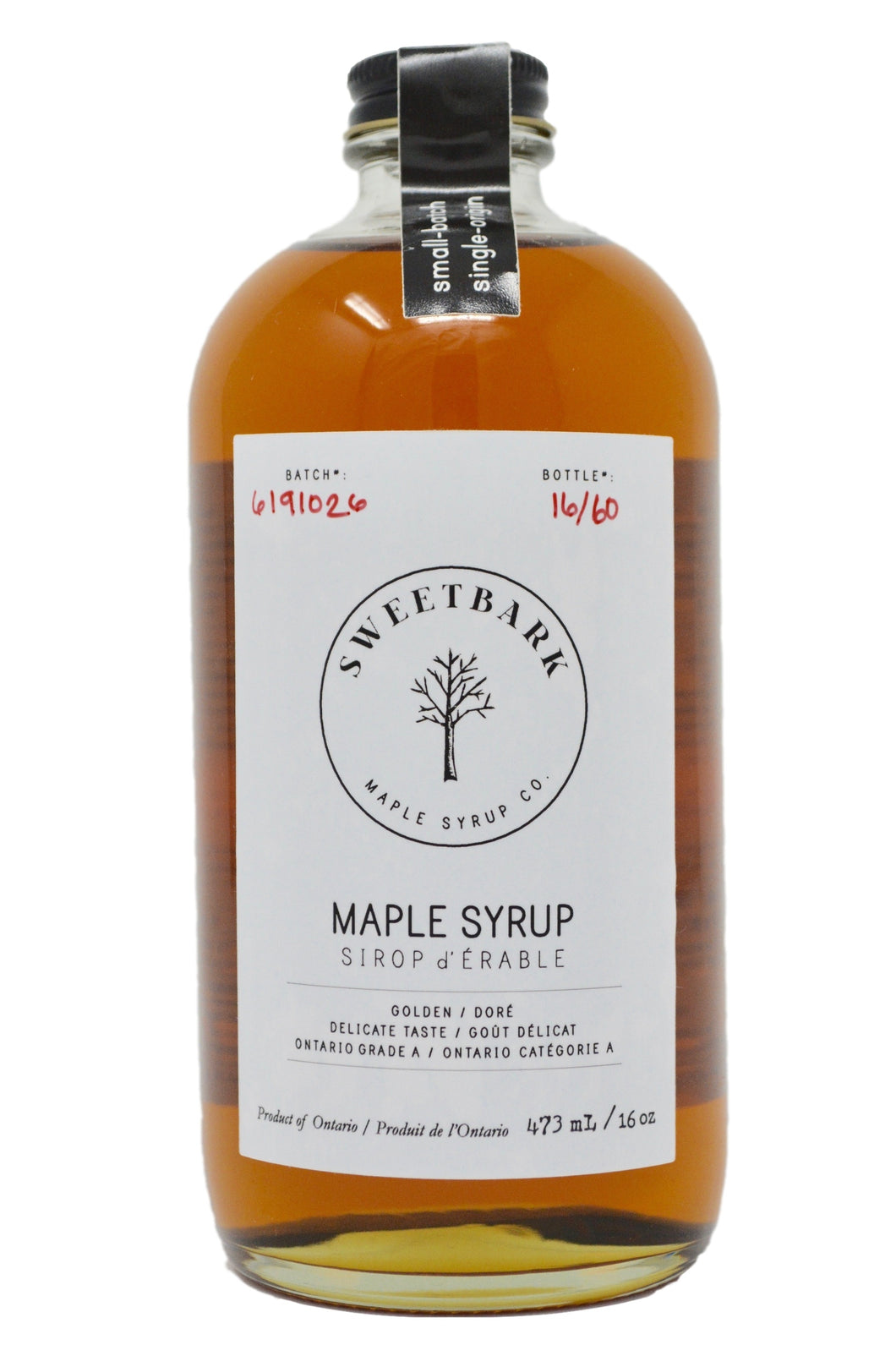 Sweetbark Maple Syrup - Golden 16oz - Sweetbark Maple Syrup Co.