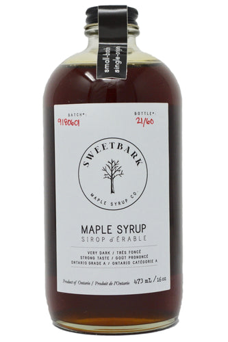 Sweetbark Maple Syrup - Very Dark 16oz - Sweetbark Maple Syrup Co.