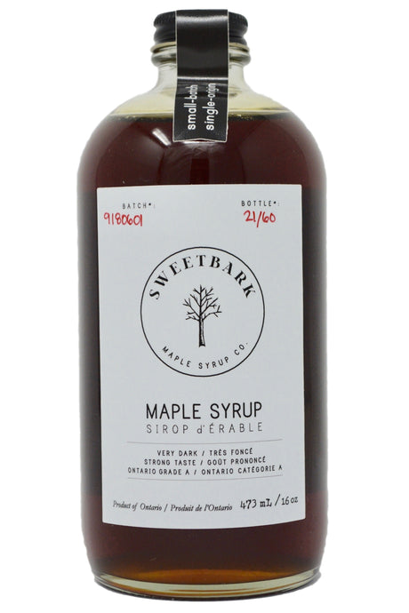 Sweetbark Maple Syrup - Very Dark 16oz