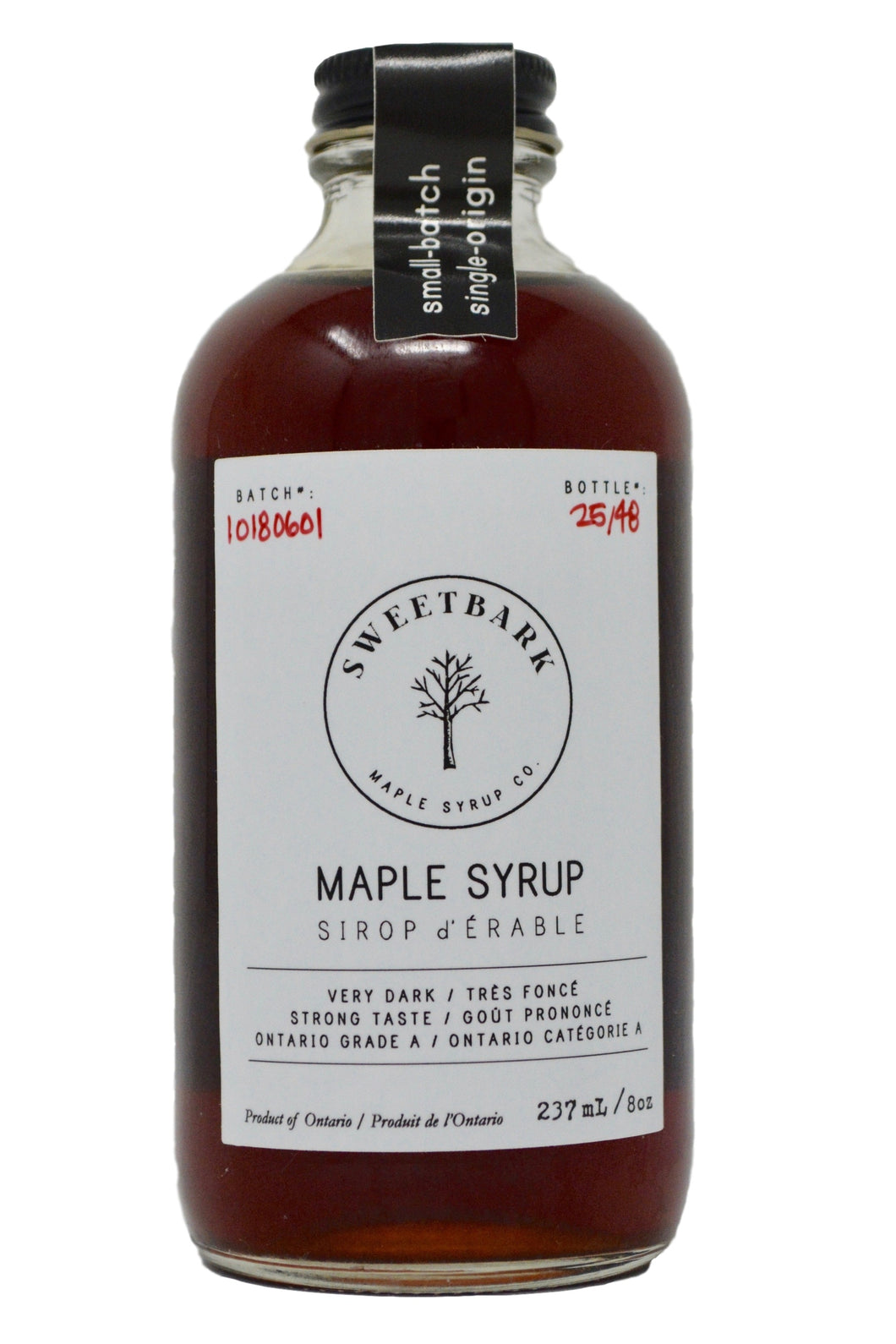 Sweetbark Maple Syrup - Very Dark 8oz - Sweetbark Maple Syrup Co.
