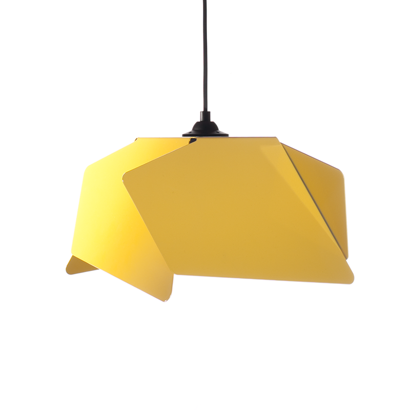 Hanglamp Nimble Design Twisted Geel