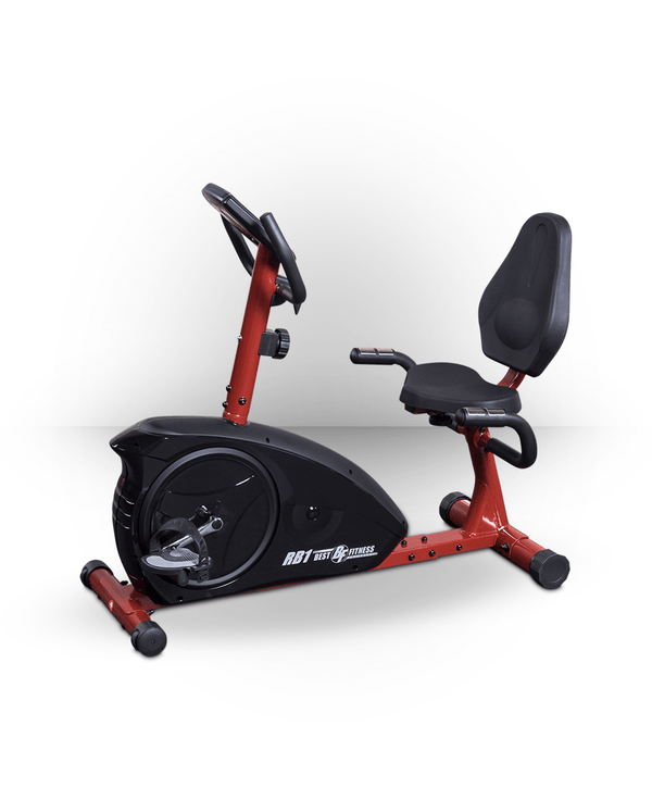 Best Fitness Recumbent Bike Red