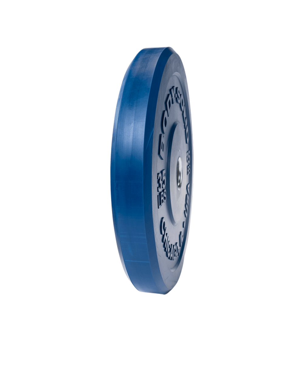 Body-Solid Chicago Extreme Bumper Plate Color Blue, 35 lb Alt1
