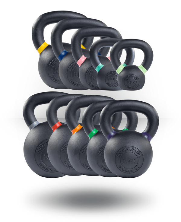 Body-Solid Premium Training Kettlebell Set 4,6,8,12,16,20,24,28,32,36 kg
