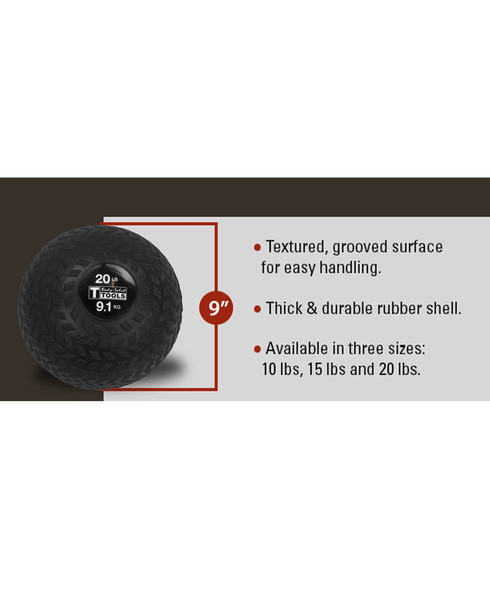 Body-Solid Tire Tread Slam Ball 20 lb Alt1