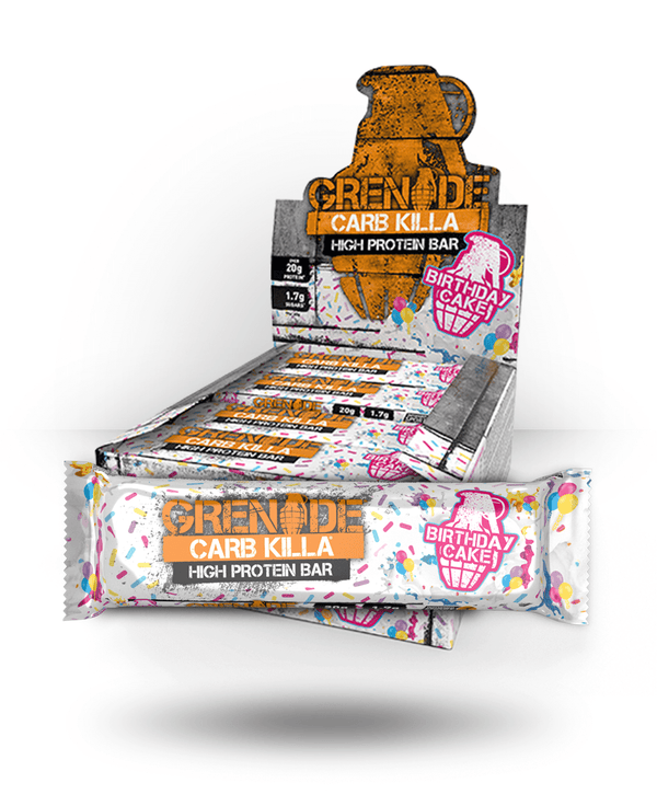 Grenade Carb Killa Bar Birthday Cake, 12 Bars