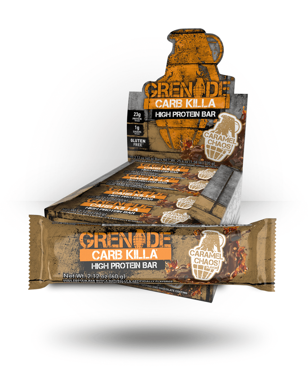 Grenade Carb Killa Bar Caramel Chaos, 12 Bars