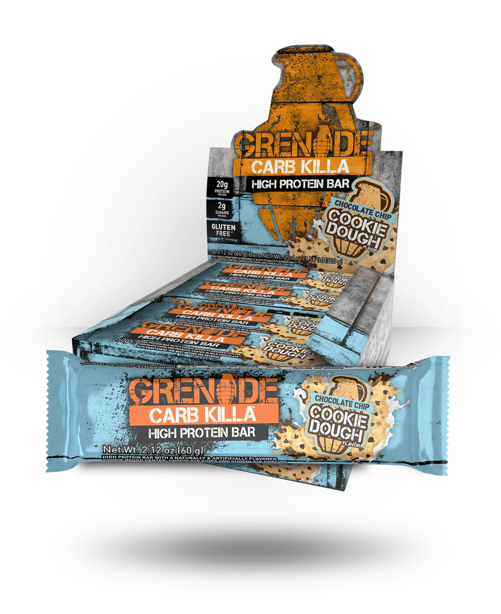 Grenade Carb Killa Bar Chocolate Chip Cookie Dough, 12 Bars