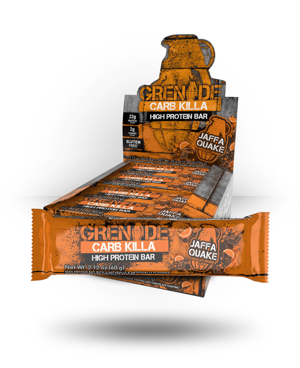 Grenade Carb Killa Bar Jaffa Quake, 12 Bars