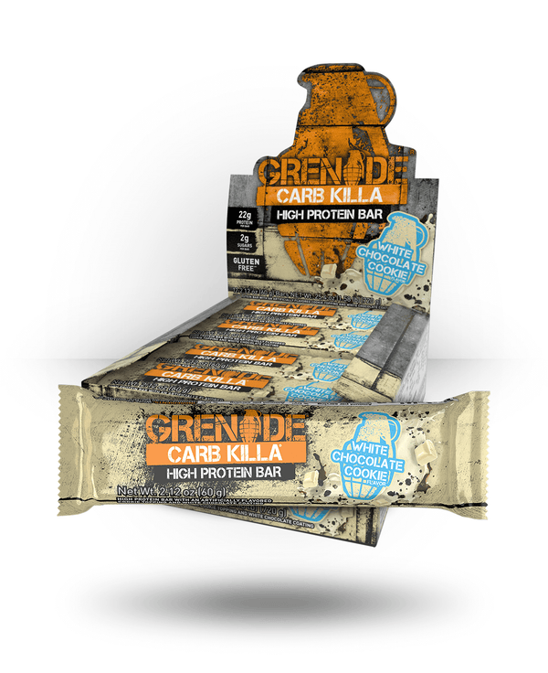 Grenade Carb Killa Bar White Chocolate Cookie, 12 Bars