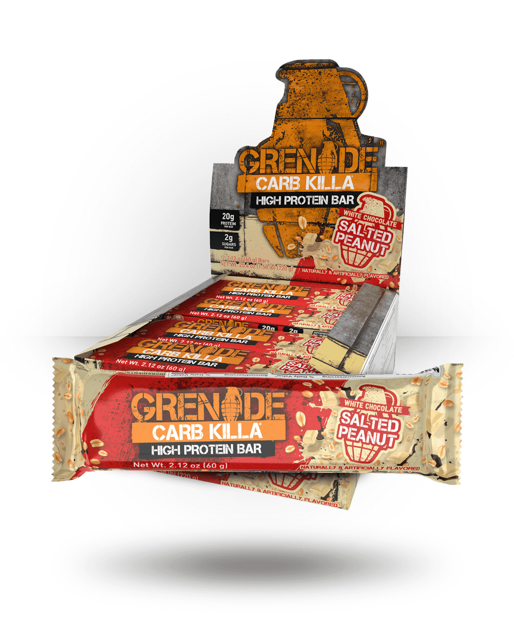 Grenade Carb Killa Bar White Chocolate Salted Peanut, 12 Bars