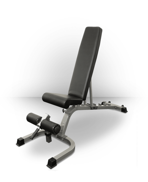 Valor Fitness Adjustable Utility Bench FID with Wheels DD-25