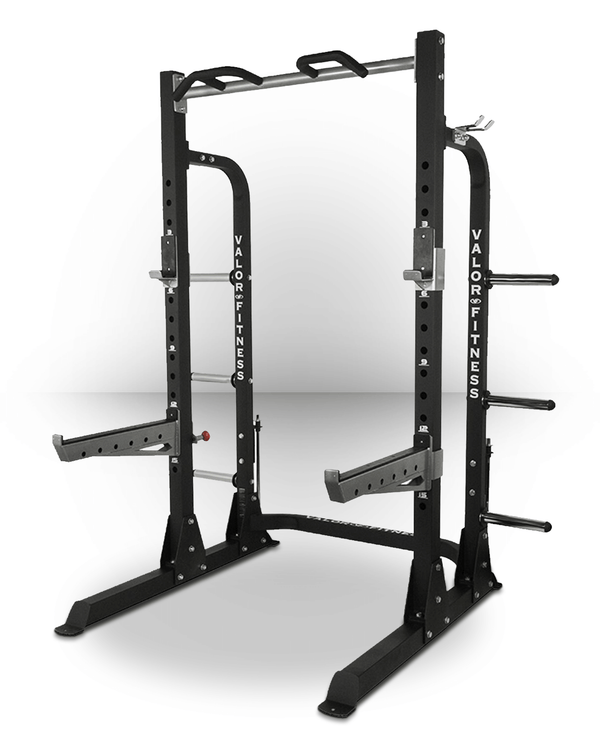 Valor Fitness ValorPRO Half Rack with Plate Storage BD-58