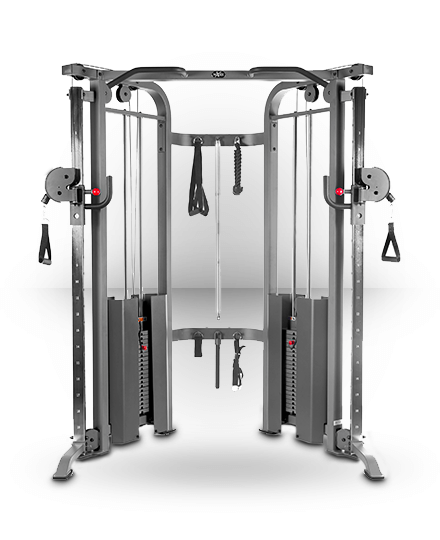 Xmark Fitness Functional Trainer Cable Machine with Dual 200 lb Weight Stacks Gray