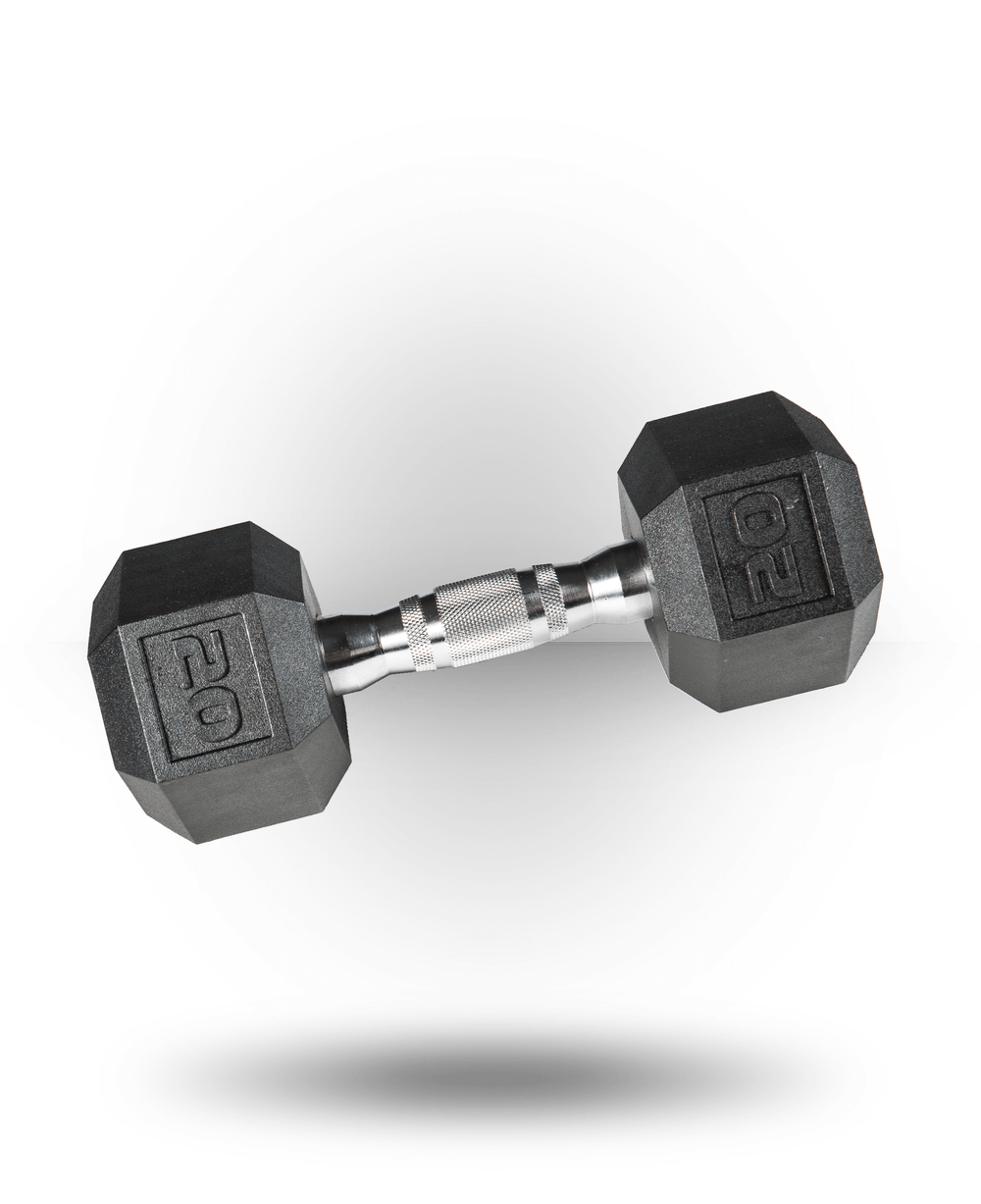 York Barbell PVC Hex Dumbbell With Chrome Ergo Handle 20 lb