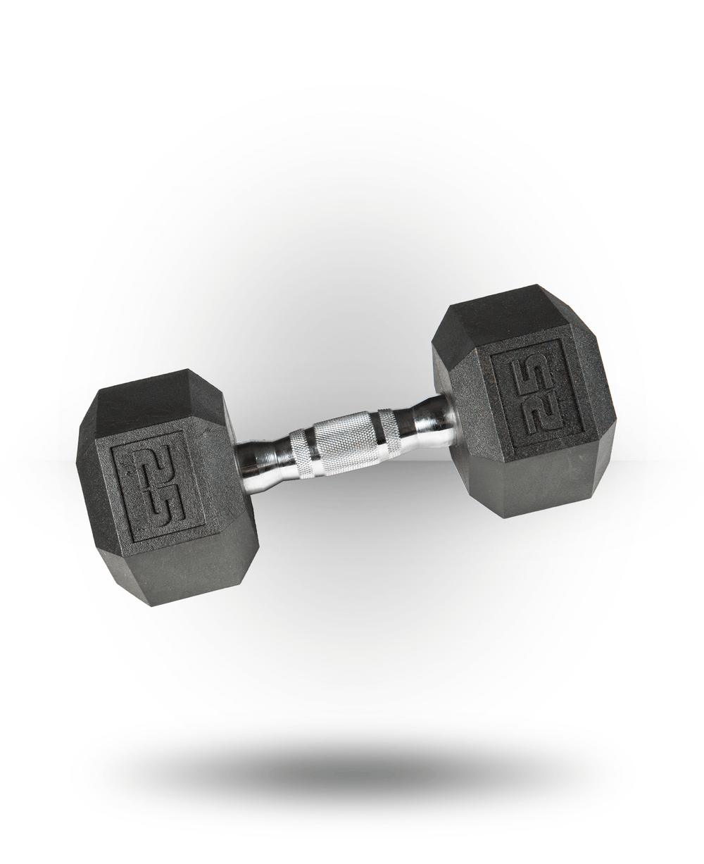 York Barbell PVC Hex Dumbbell With Chrome Ergo Handle 25 lb