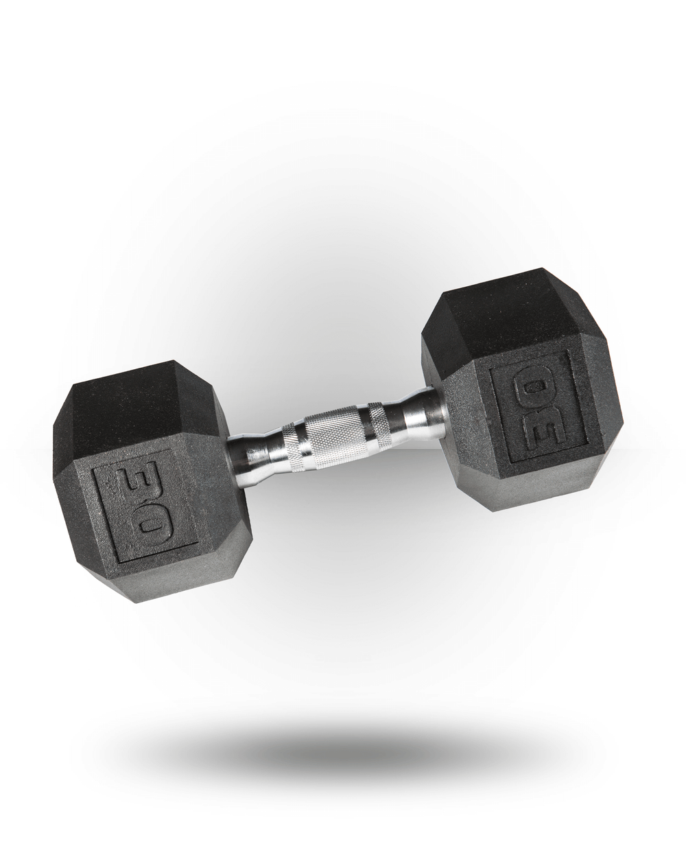 York Barbell PVC Hex Dumbbell With Chrome Ergo Handle 30 lb