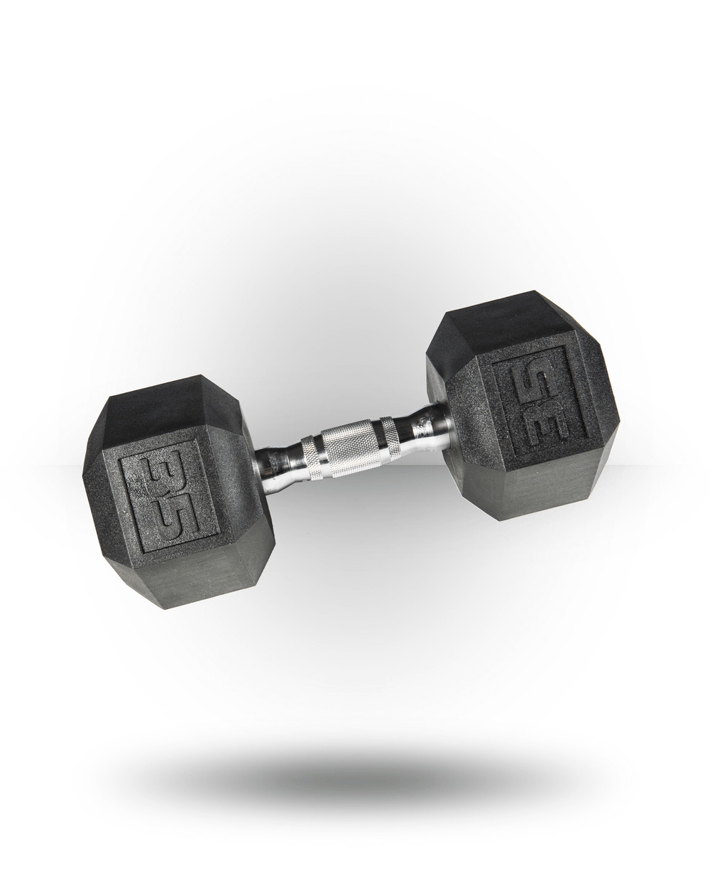 York Barbell PVC Hex Dumbbell With Chrome Ergo Handle 35 lb